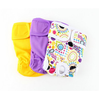 Reusable Washable Dog Diapers 3 Pack by Midlee