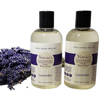 Victoria's Lavender Body Wash 2 Pack - All Natural, Deep Cleansing, Hydrating, Sulfate Free, Handmade in USA