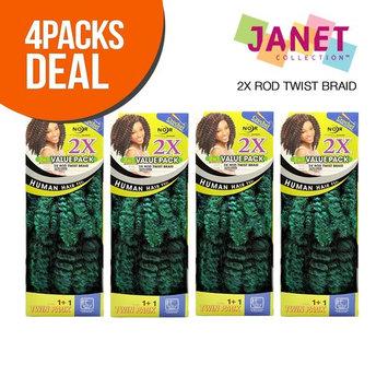 Janet Collection Synthetic Hair Crochet Braids Noir 2X Rod Twist Braid