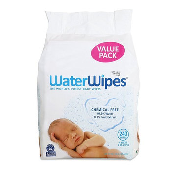 WaterWipes Sensitive Baby Wipes, Natural & Chemical-Free, 240 Sheets (Pack of 2)