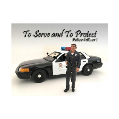 American Diorama 24031 Police Officer I Figure for 1-24 Scale Models