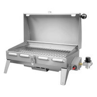 Napoleon PTSS165P-1 Marine Portable Gas Grill with Stainless Steel Burner Up to 9 000 BTUs and 165 Sq. In. Cooking Area in Stainless