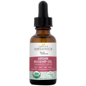InstaNatural Argan Rosehip Oil Therapeutic Serum, Complete Organics, 1 Fl Oz