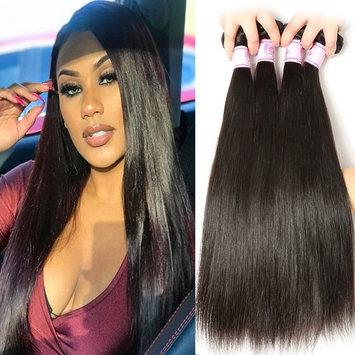 Beauty Forever Hair Malaysian Ombre Straight Virgin Hair 3 Bundles Grade 6A 100% Virgin Human Hair Weave Extensions 3 Tone #1b/4/27 Color (16 18 20)