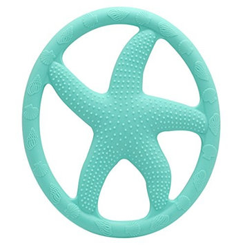 AILAMS Baby Teething Toy,BPA-Free FDA Approved Food Grade Silicone,Toddlers Starfish Teether Ring (Light purple)