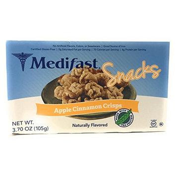 Medifast Apple Cinnamon Flavored Soy Crisps (1 Box = 7 Snacks)