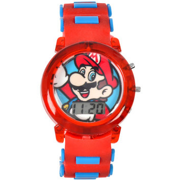 Licensed Mario Bullet Band Light Up Strap Watch