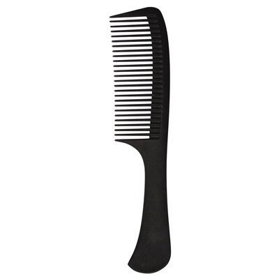 Strands Color Strands 8-3/4 inch Rake Carbon Comb