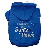 Mirage Pet Products Screenprint Santa Paws Pet Pet Hoodies Blue Size XL (16)