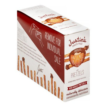 Justin's Chocolate Hazelnut Butter Blend with Pretzels, 1.3 Oz