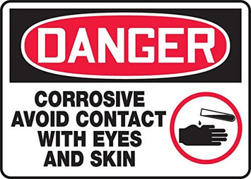 Accu Form CORROSIVE AVOID CONTACT WITH EYES AND SKIN (W/GRAPHIC)