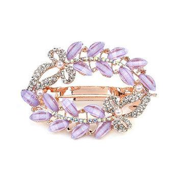 1PC Crystal Butterfly Flower Painted Hollow Hair Clips Rhinestone Hair Pins Headdress Hairpins Hair Barrettes Accessories