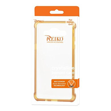 Reiko Bumper Case with Air Cushion Shock Absorption for Samsung Galaxy On5 - Clear G