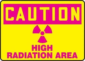 Accu Form HIGH RADIATION AREA (W/GRAPHIC)