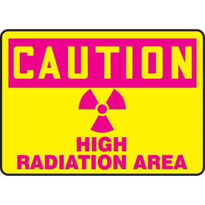 Accu Form HIGH RADIATION AREA (W/GRAPHIC)