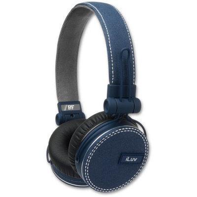 Jwin Electronics Corporation iLuv IHP636BLU Fabric On-Ear Headphones Blue - 106-1246