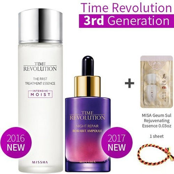 2016 Missha Time Revolution the First Treatment Essence Intensive Moist 5.07oz(150ml) + Missha Time Revolution Night Repair Science Activator Ampoule Serums1.69oz(50ml)