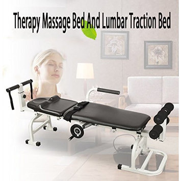 Therapy Massage Bed Table Cervical And Lumbar Traction Bed Stretching Device, Body Stretching Device Cervical Lumbar Fatigue And Minor Injurie