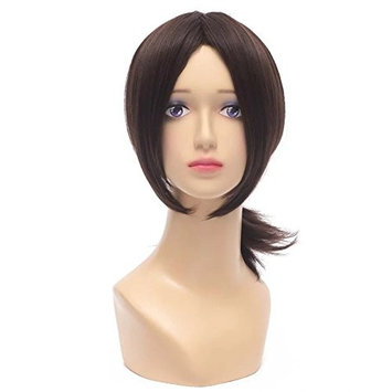 Kadiya Dark Brown Tied Pony Girl Cosplay Wig Full anime costume hair