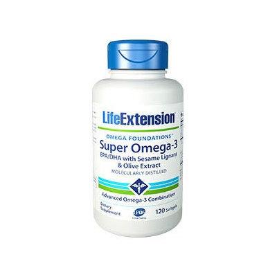 Life Extension Omega Foundations Super Omega-3 Softgels, 120 Ct