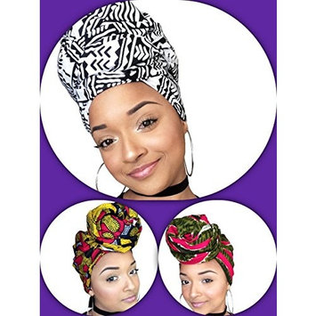 First Lady African Headwrap Collection ( 3 headwraps)
