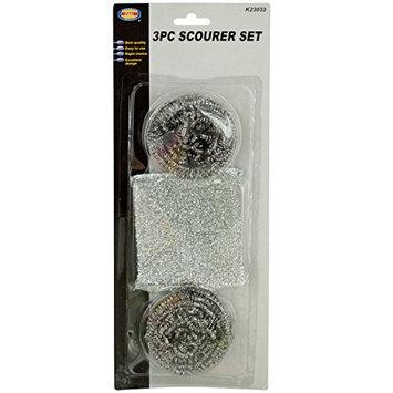 Kole Imports HG421 HG421 Kitchen Scour Pad & Metal Scrubber Set