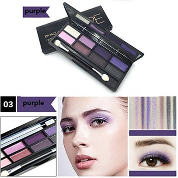 Eyeshadow,Baomabao 8 Colors Eyeshadow Cosmetics Palette for Home and Professional Use