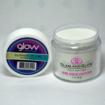 Glam and Glits GLOW ACRYLIC Glow in the Dark Nail Powder 2001 ILLUMINATE MY LOVE
