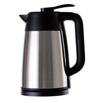 Chefman Vacuum Electric Kettle with Temperature Display, Stainless Steel, Auto Shut Off and Boil Dry Protection, 1.7Liter/1.8 Quart Capacity