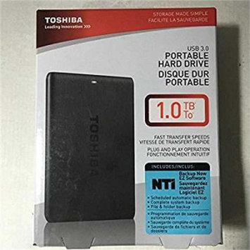 Hitachi Refurbished Toshiba Canvio Connect 1TB Portable Hard Drive, Black (HDTC710XK3A1)