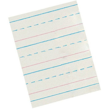 School Smart Red & Blue Ruled Newsprint - Primary Grades - Pack of 500