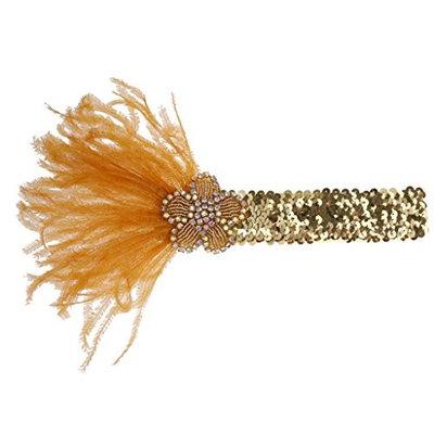 MonkeyJack Women Sequin Feather Flower Headband Headpiece Party Fancy Dress G