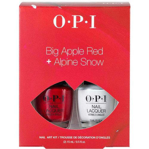Big Apple Red & Alpine Snow Nail Art Duo