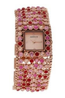 Manoush Mshmap Marilyn - Rose Gold/Fushia Stainless Steel Bracelet Watch Watch For Women 1 Pc