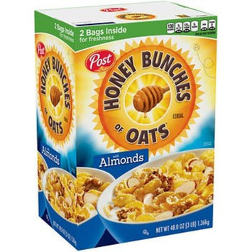 Post Honey Bunches of Oats with Almonds, (48 oz.) x2 AS