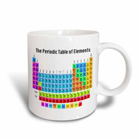 3dRose The Periodic Table of Elements, Ceramic Mug, 11-ounce