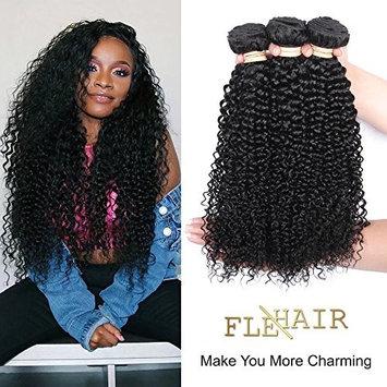 Brazilian Curly Hair Weave 3 Bundles (14 16 18,300g) Virgin Kinky Curly Human Hair Weave 100% Unprocessed Hair Extensions Natural Black Color