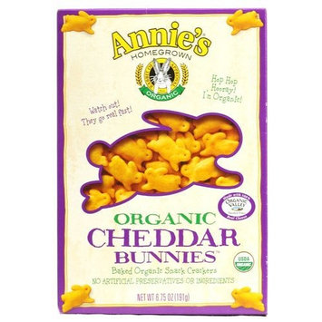 Annie's Homegrown Organic Cheddar Bunnies, 6.75-Ounce (Pack of 12)
