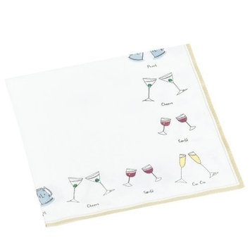 Entertaining with Caspari Cheers! Set of 20 Paper Lunch Napkins