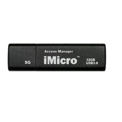 Imicro IM-SG32GBB USB 3.0 Password Protection Flash Drive Sliver Grade 32GB [black]