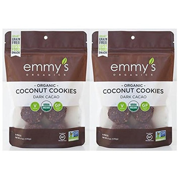 Emmys Organics Coconut Dark Cacao Macaroons, 6 oz (Pack of 2)