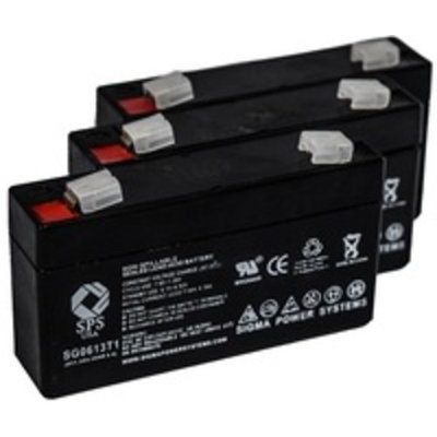 SPS Brand 6V 1.3 Ah (Terminal T1) Replacement battery for Jolt Batteries SA613 (3 PACK)