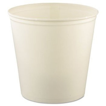 SCC10T3U - Double Wrapped Paper Bucket, Waxed, White, 165 Oz