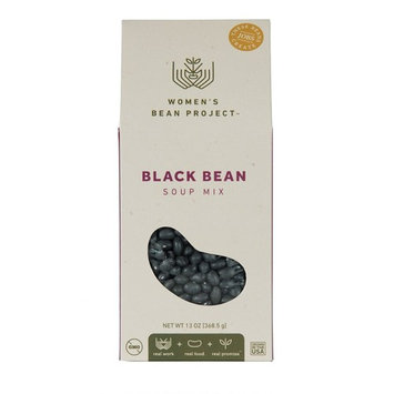 Women's Bean Project Black Bean Soup Mix with Seasoning Packet, 13 Ounces