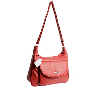 Hot Spot Prices PU handbag with twin zipped main compartments