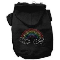 Mirage Pet Products 5468 LGBK Rhinestone Rainbow Hoodies Black L 14