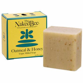 Naked Bee Oatmeal & Honey Triple Milled Bar Soap 2.75 Oz. Box of 12