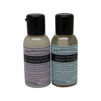 Pharmacopia Verbena Shampoo and Conditioner lot of 4 (2 of each) 1.1oz bottles