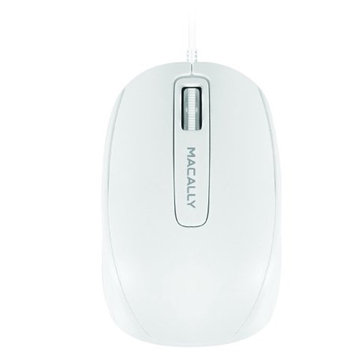 Mace Group - Macally Macally 3-Button Optical USB Mouse - White