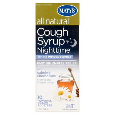 Maty's­ All Natural Nighttime for the Whole Family Cough Syrup, 4 fl oz